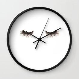 Dramatic dreaming Wall Clock