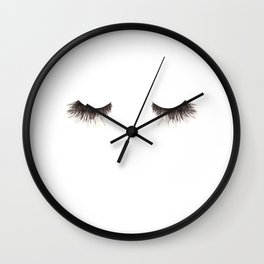 Dramatic dreaming Wall Clock