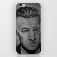 lynch iPhone & iPod Skins featuring David Lynch by Alessandro Modesti