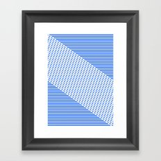 Ovrlap Blue Framed Art Print