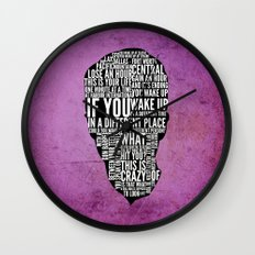 Typography Narrator Wall Clock