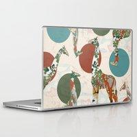 polka Laptop & iPad Skins featuring Giraffe Polka by Paula Belle Flores