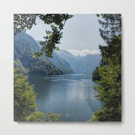 Germany, Malerblick, Mountains -Alps Koenigssee Lake Metal Print