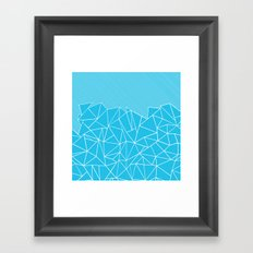 Ab Lines 45 Electric Framed Art Print
