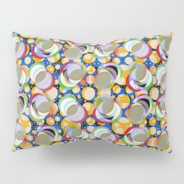 Circle Insanity Multicolored Pillow Sham