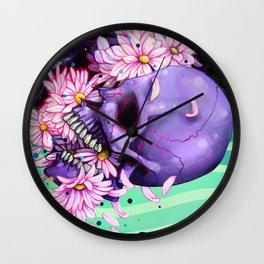 Pushing Up Daisies painting Wall Clock