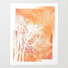 Autumn Silence Art Print