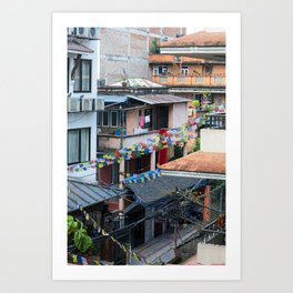 Nepal Prayer Flags Art Print