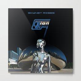 Skynet Rises Metal Print