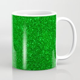 Emerald Green Shiny Metallic Glitter Coffee Mug