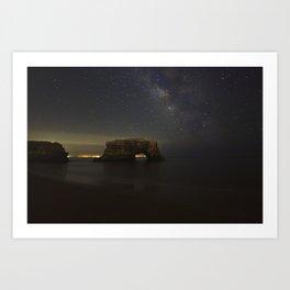 Natural Bridges Milky Way Art Print