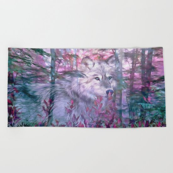 Forest Ghost Beach Towel