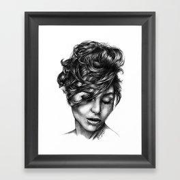 Graphite Practice Framed Art Print