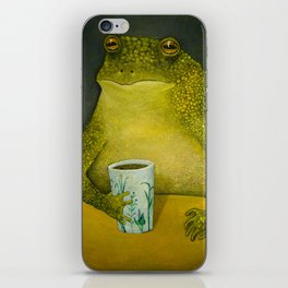 Toad's morning cup iPhone Skin