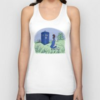 karen Tank Tops featuring Adventure in the Great Wide Somewhere by Karen Hallion Illustrations
