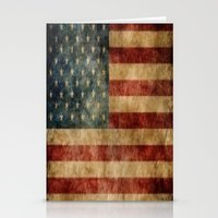 american flag Stationery Cards featuring American Flag by KOverbee