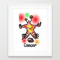 cancer Framed Art Prints featuring cancer  by sladja