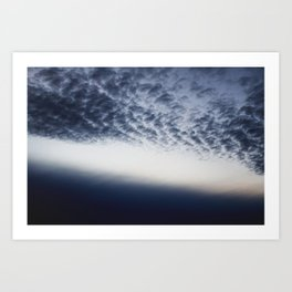 Drama above the Fjord Art Print