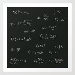 Physics Art Print