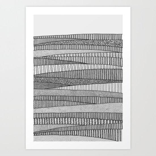 Fields in B&W Art Print