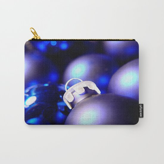 Christmas Ornaments : Blue Christmas Carry-All Pouch