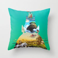 GhibliVerse Throw Pillow