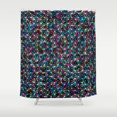 Stardust Geometric Art Print. Shower Curtain
