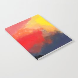 Red, Black and Yellow Mosaic Notebook