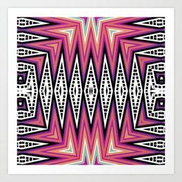 ZigZag Tribal Energy Art Print