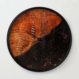 Sandias (Rust Abstract) Wall Clock