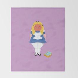 Alice in worriedland Throw Blanket