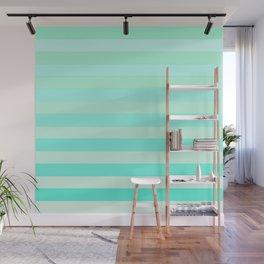 Green Teal Stripe Fade Wall Mural
