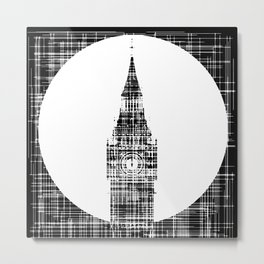 Big Ben Grunge Background Metal Print