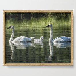 Family of Swans, No. 2 Serving Tray