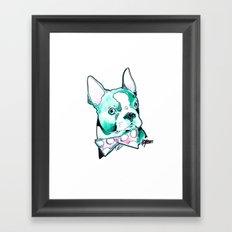 Bow Tie BostonTerrier Framed Art Print