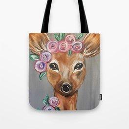 Oh Deer!  Fawn Painting Deer Print Tote Bag