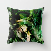 witchcraft Throw Pillows featuring Witchcraft by Artwork-Fusions