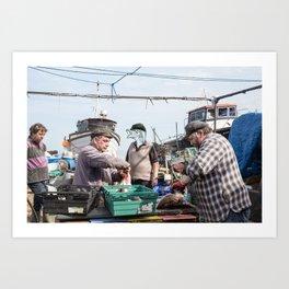 Fishermen & Fishman Art Print
