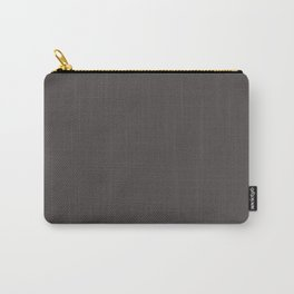 Solid Black Cow Color Carry-All Pouch