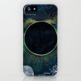 New Moon Original Mixed Media Painting iPhone Case
