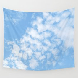Summer Sky with fluffy clouds Wall Tapestry