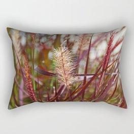Purple Fountain Grass III Rectangular Pillow