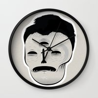 dracula Wall Clocks featuring Dracula by Mila Spasova
