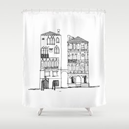 Buildings of Venice, Grand Canal Shower Curtain