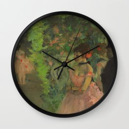 "Edgar Degas ""Dancers backstage"" Wall Clock"