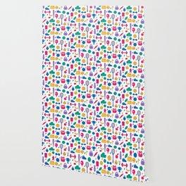 Sport doodles pattern Wallpaper
