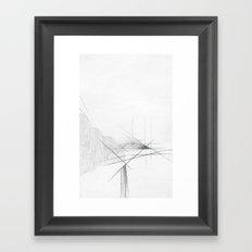 Pillar Forces Geometry Framed Art Print