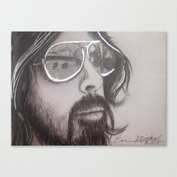 dave grohl Canvas Prints featuring Dave Grohl by Erin Michal