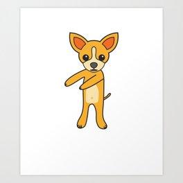 Floss Dance Move Chihuahua Art Print