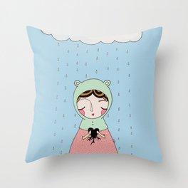 Let your heart grow stronger Throw Pillow